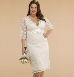 20.Wedding dress for older bride informal