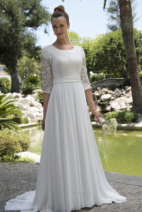 31.Cute Wedding dresses for older brides
