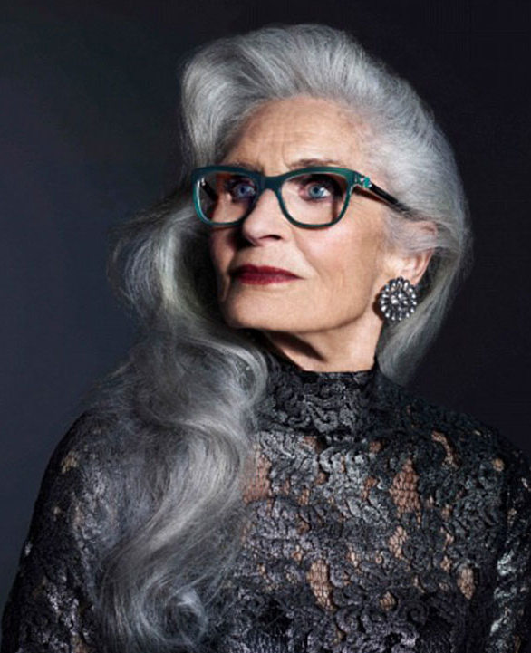 Long Hairstyles For 60 Year Old Women With Glasses Plus