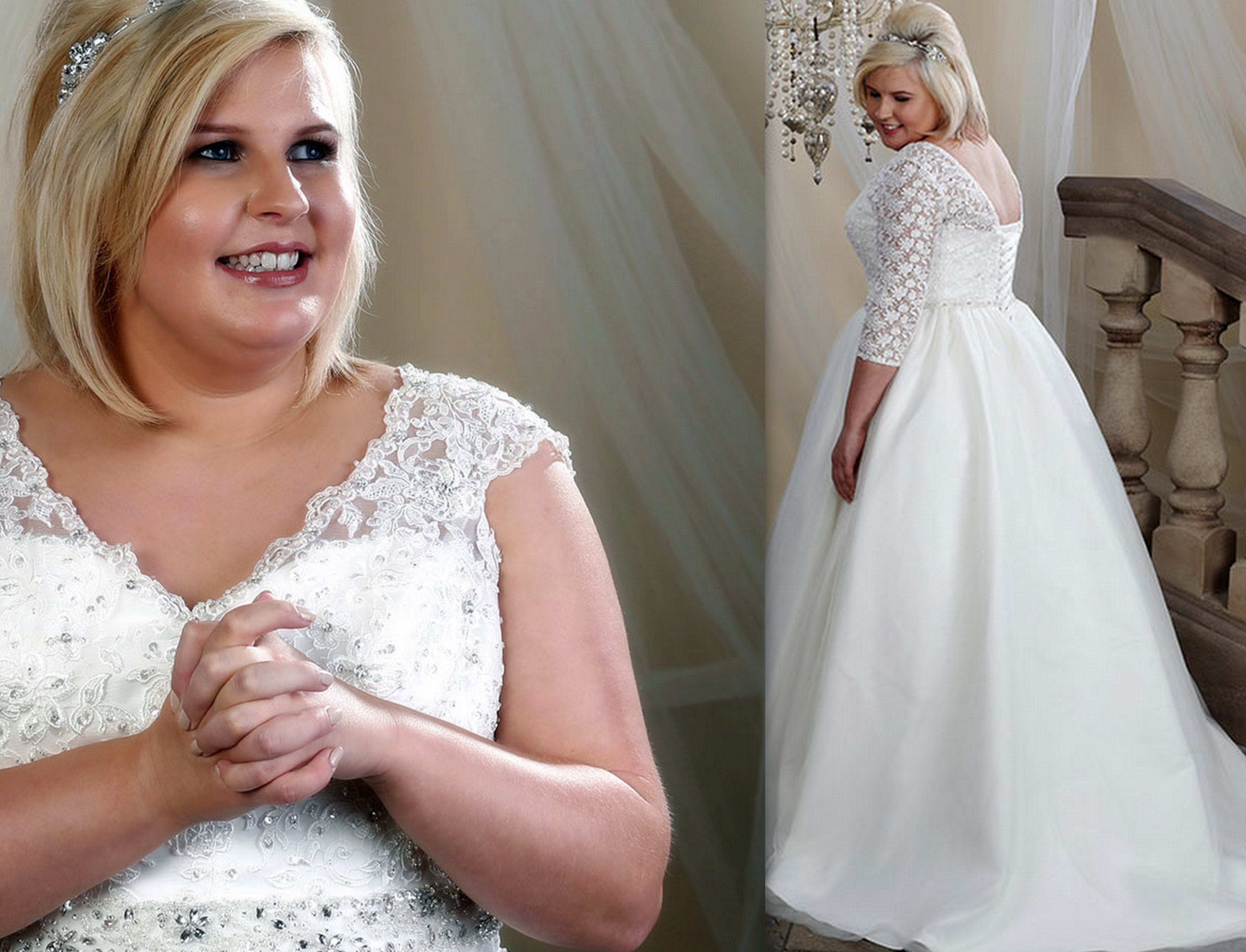 Wedding dresses for plus size women over 50