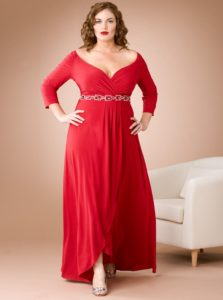 1. Plus size red dress for women