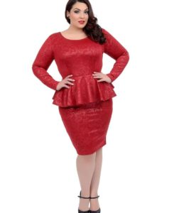 11. Plus size women dresses for Christmas