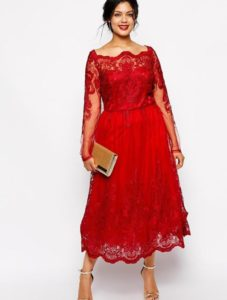 11. new year eve dress for curvy red