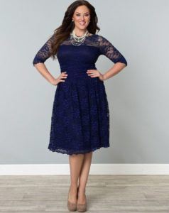3. Christmas dress for plus size women