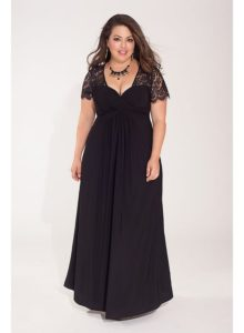 5. Long plus size dresses for Christmas