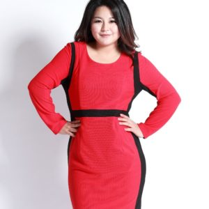 6. new year eve dress for curvy red