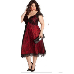 9. Plus size Christmas dress for women