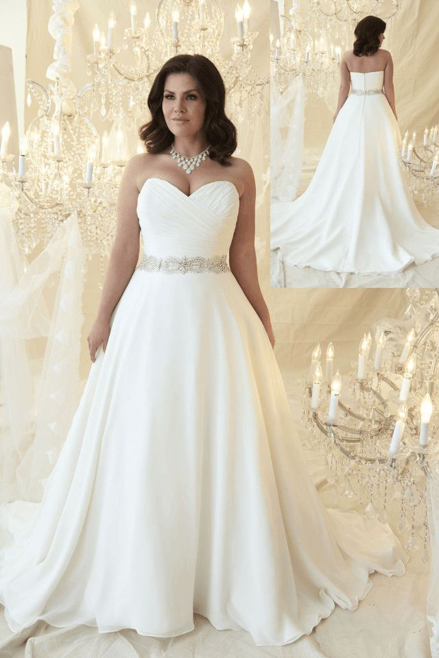 Affordable wedding dresses for plus size women 2018 plus for Wedding dresses for larger figures