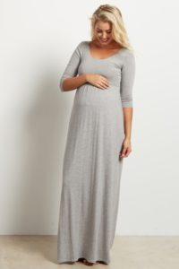 13. Long maternity dresses for special occasions