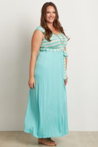 13. Plus size maternity maxi dresses