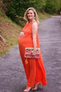 14. Plus size maternity maxi dresses