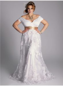 15. Informal plus size wedding dresses