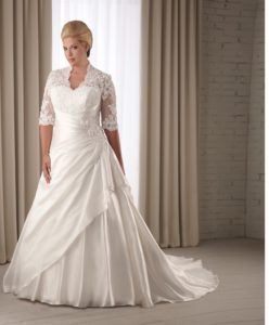 16. Informal plus size wedding dresses