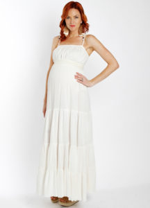 16. Long maternity dresses for special occasions