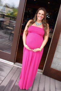 16. Plus size maternity maxi dresses
