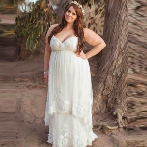 17. Plus size maternity maxi dresses