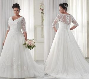 2. Wedding dresses for plus size women