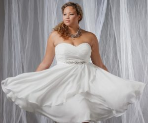 23. plus size short wedding dresses