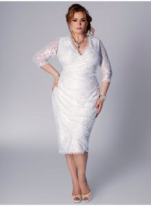 24. plus size short wedding dresses