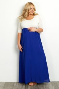 29. Maternity evening gowns plus size