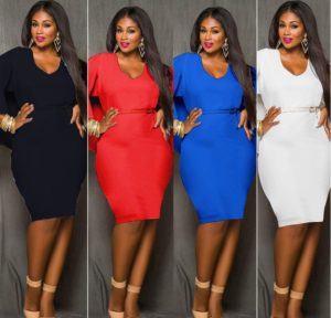 32. Plus size hip dresses