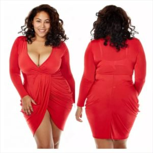 33. Plus size hip dresses
