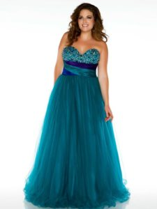 36. Plus size maternity prom dresses