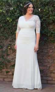 7. Discount plus size wedding dresses