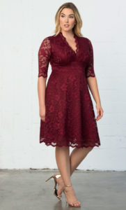 . Plus size Christmas party dresses