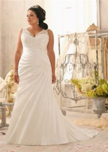 9. Discount plus size wedding dresses