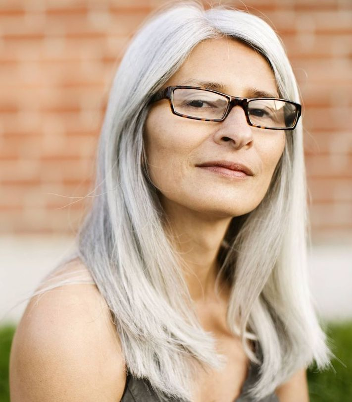 55 Classy Long Hairstyles For 60 Year Old Women With Glasses Plus