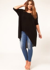 4. Casual dress jeans and t shirt for women