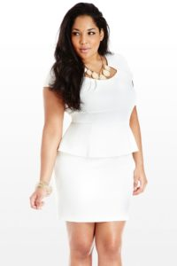 4. Plus size women angel white dress