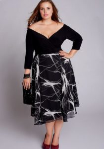 5. Plus size cocktail dress for Christmas