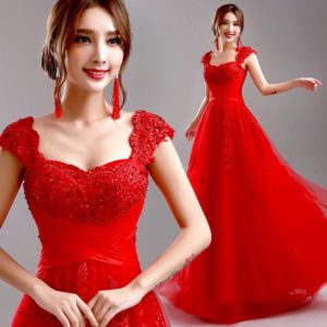 7. Cute red dress for girls on Christmas