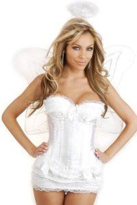 7. Sexy white Christmas dress for women