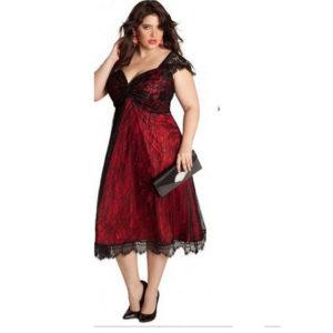 9. Plus size Christmas dress for women