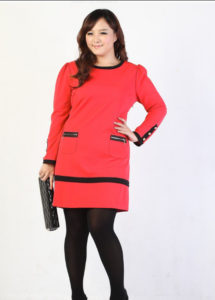 9. new year eve dress for curvy red