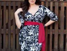 flattering dresses for plus size apple shape