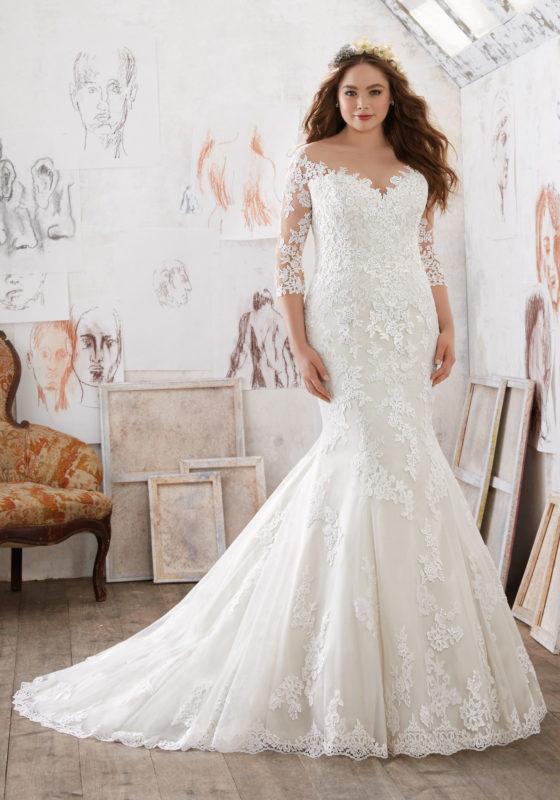40 Stylish Wedding Dresses for Plus Size Women 2019 - Plus Size ...