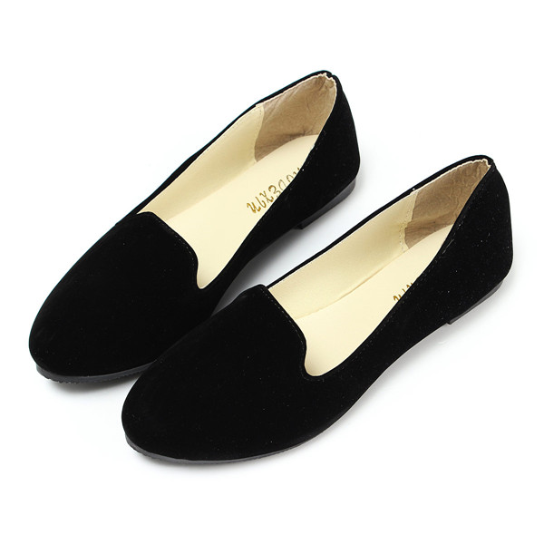 Simple Black Prom Shoes