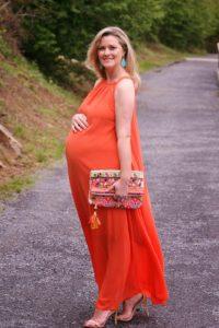 14. Plus size maternity maxi dresses