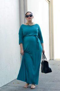 15. Plus size maternity maxi dresses
