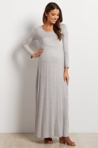 17. Long maternity dresses for special occasions