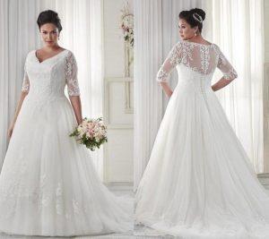 2. Wedding dresses for plus size women