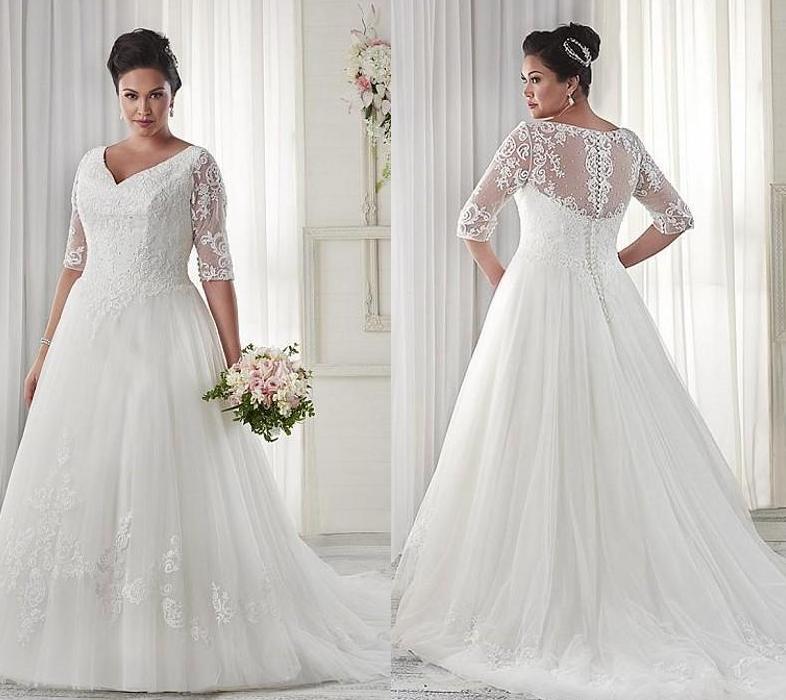 40 Stylish Wedding Dresses For Plus Size Women 2019