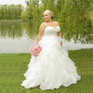29. Long wedding dresses for plus size women