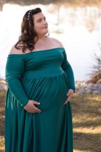 31. Cheap plus size maternity dresses