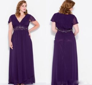 36. Plus size evening dresses for cold weather