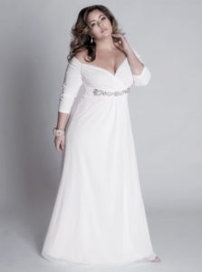 39. Plus size evening dresses for cold weather